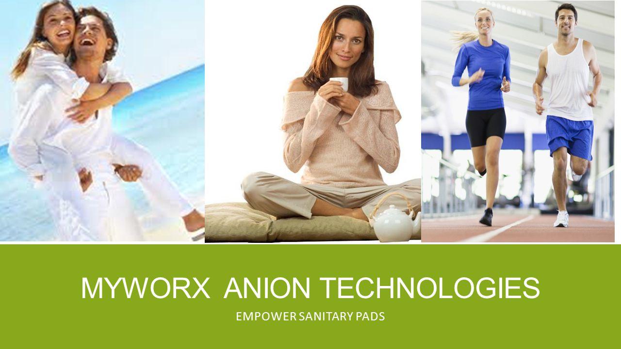 MYWORX ANION TECHNOLOGIES EMPOWER SANITARY PADS