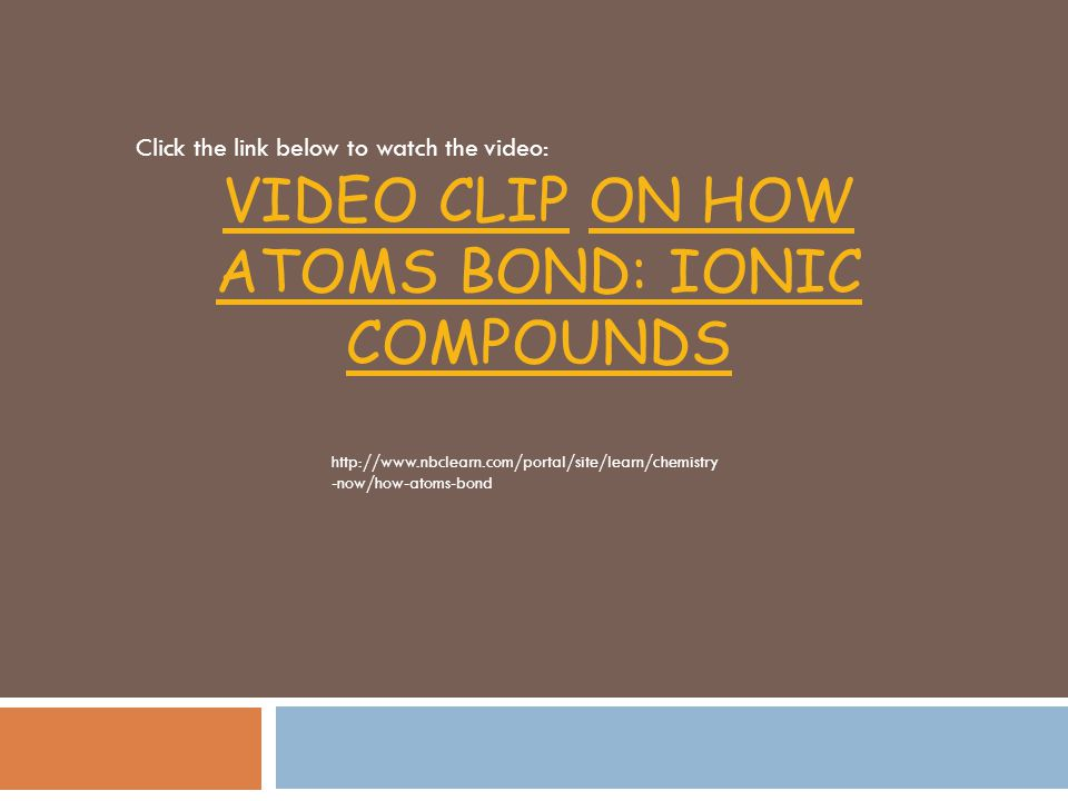 Important Facts about Ionic Compounds We use subscripts to represent the number of each ion.