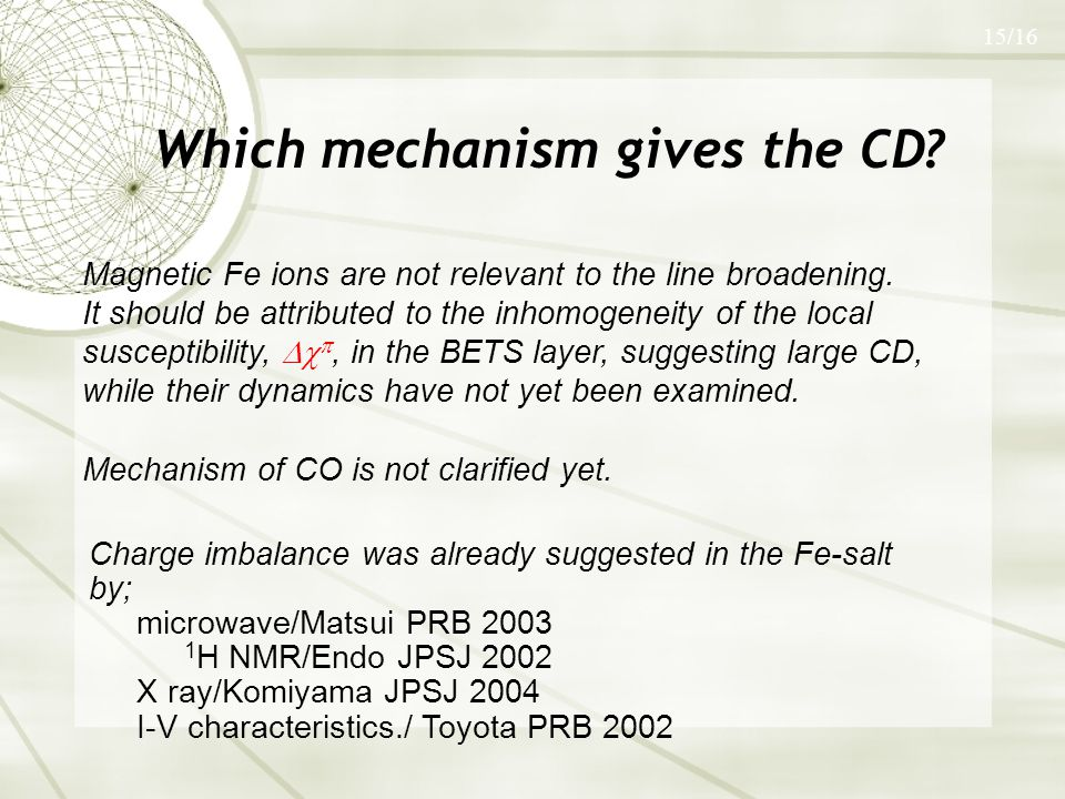 Which mechanism gives the CD.