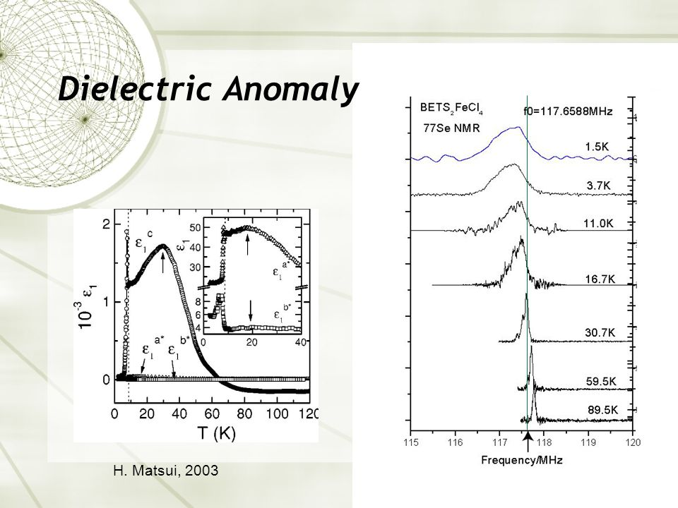 Dielectric Anomaly H. Matsui, 2003