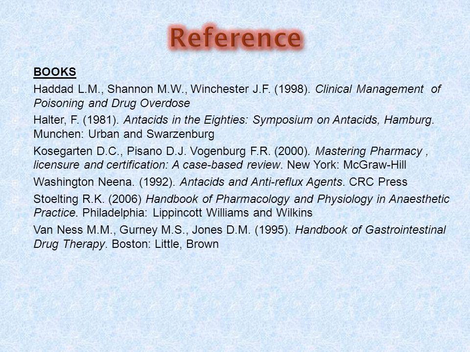  BOOKS  Haddad L.M., Shannon M.W., Winchester J.F.