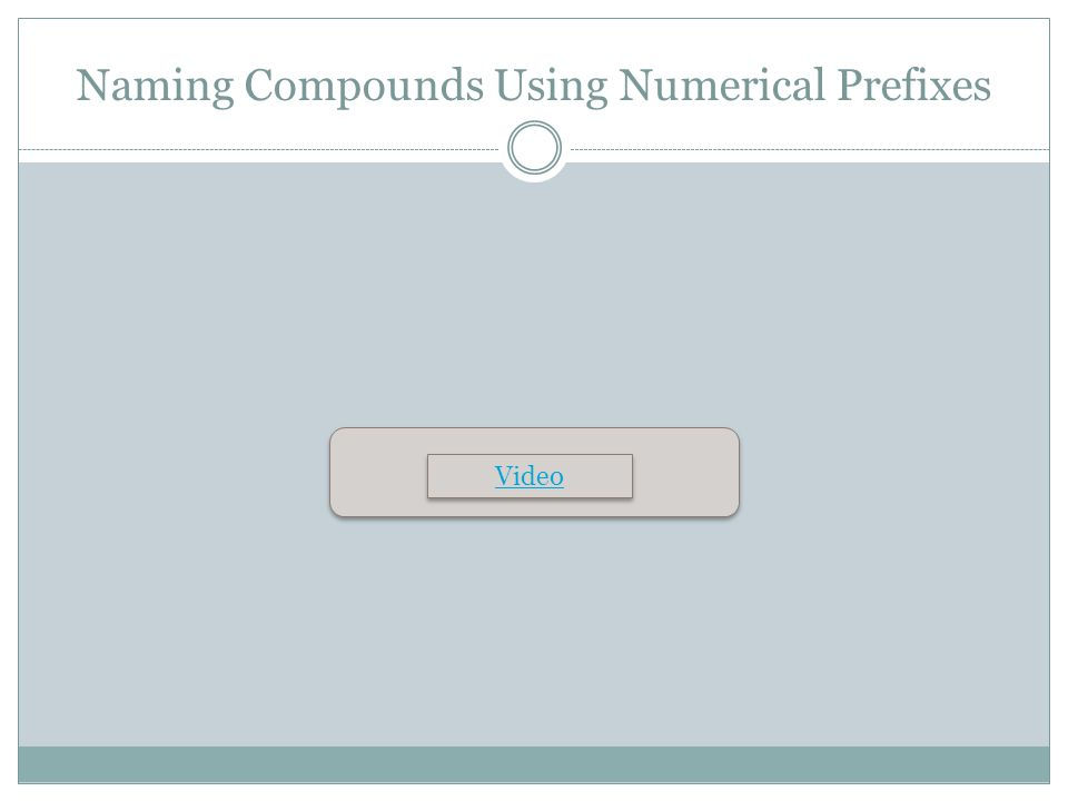 Naming Compounds Using Numerical Prefixes Video