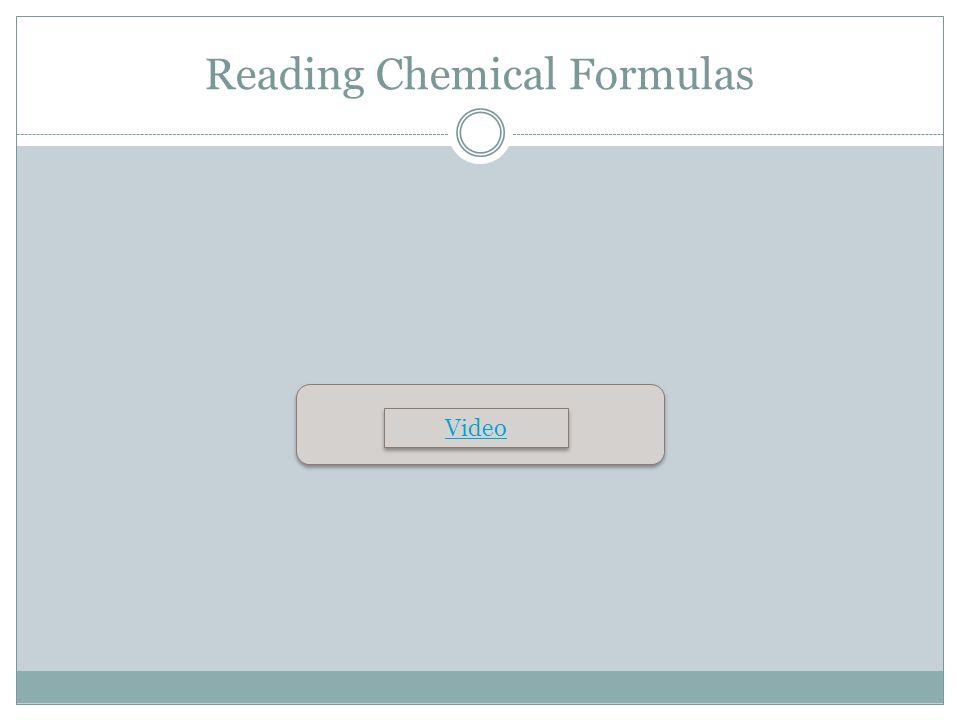 Reading Chemical Formulas Video