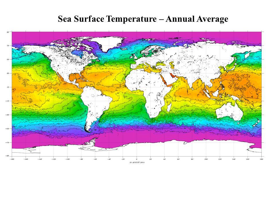 Sea Surface Temperature – Annual Average