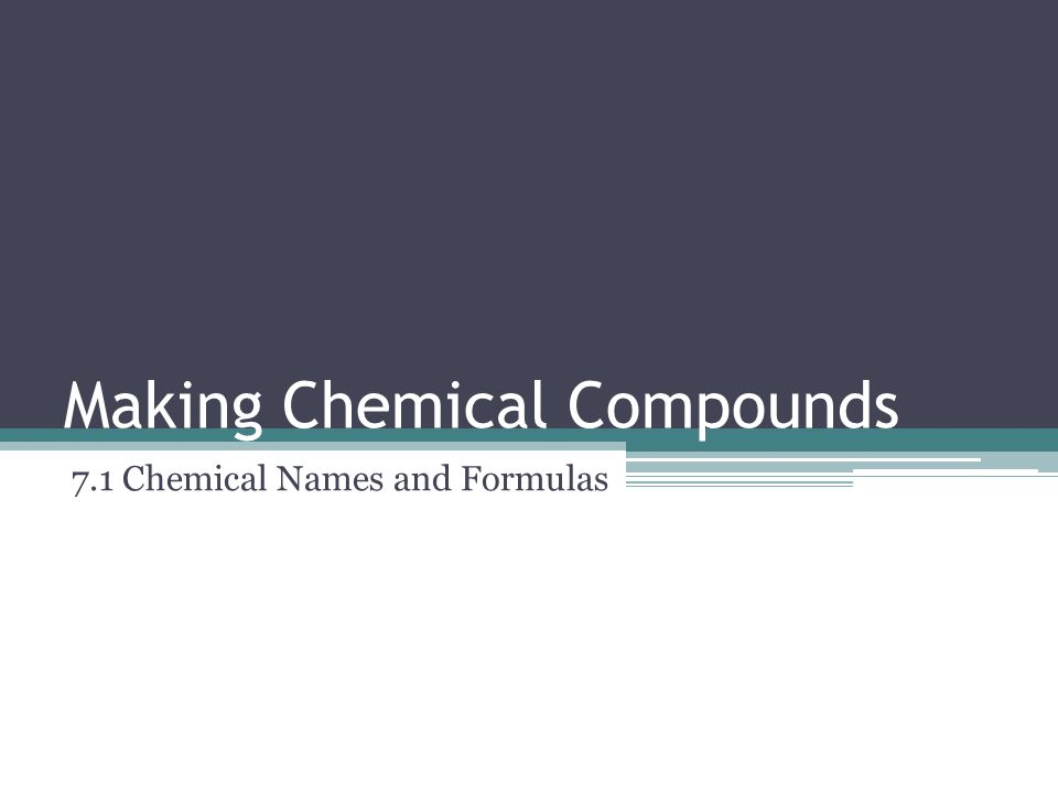 Naming Compounds with Polyatomic Ions Polyatomic ions keep their name unaltered in compounds ▫This is because the suffix of a polyatomic ion indicates the number of oxygens in the ion.