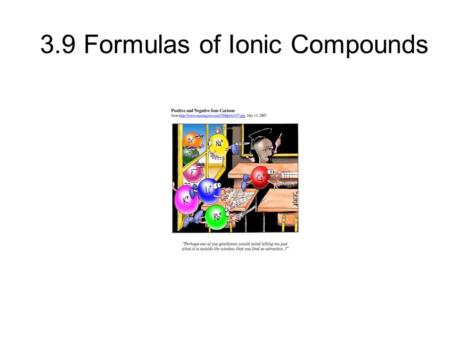 3.9 Formulas of Ionic Compounds © 2013 Pearson Education, Inc.