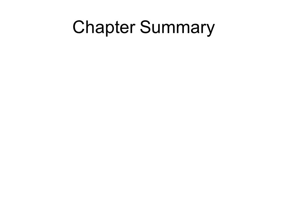 Chapter Summary © 2013 Pearson Education, Inc.