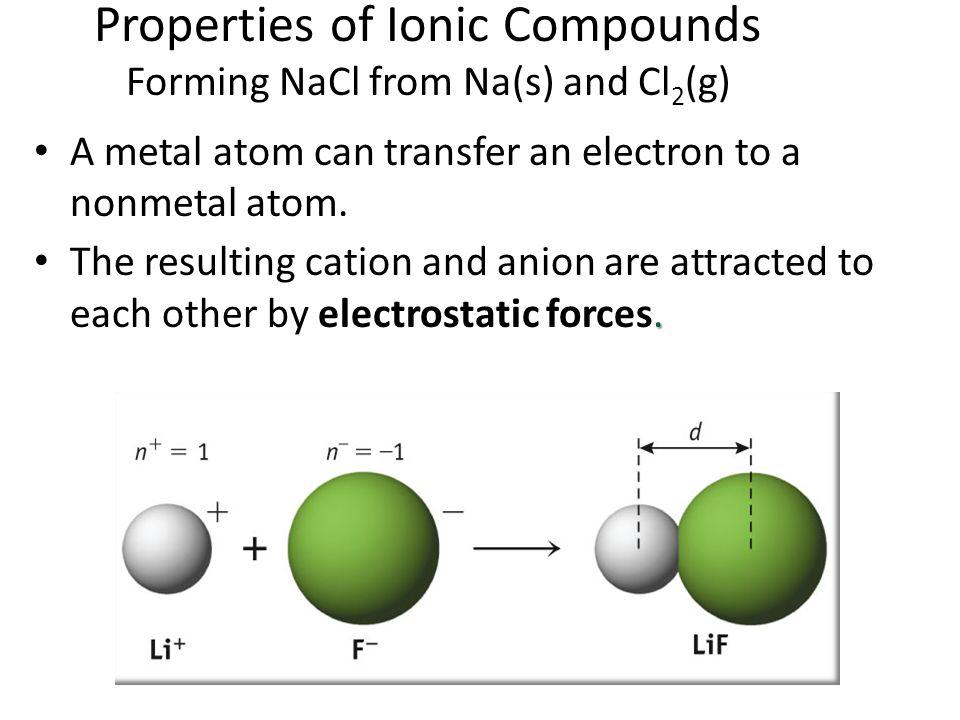 A metal atom can transfer an electron to a nonmetal atom..