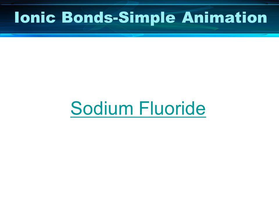 Ionic Bonds-Simple Animation Sodium Fluoride