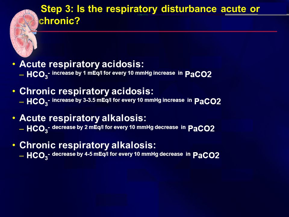 Step 3: Is the respiratory disturbance acute or chronic.