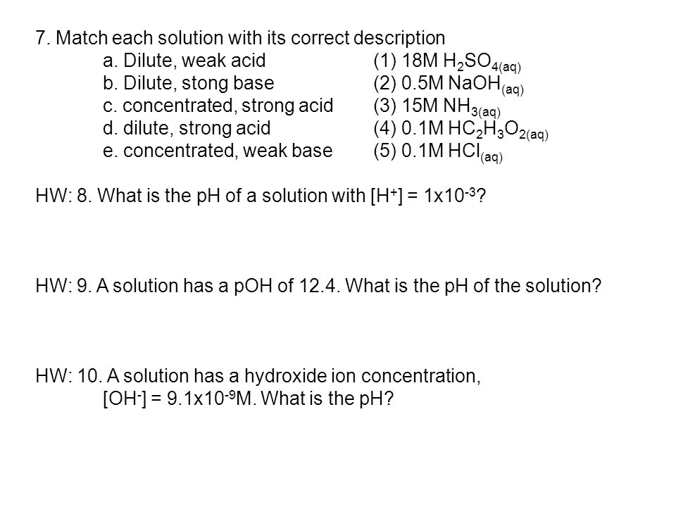 7.Match each solution with its correct description a.