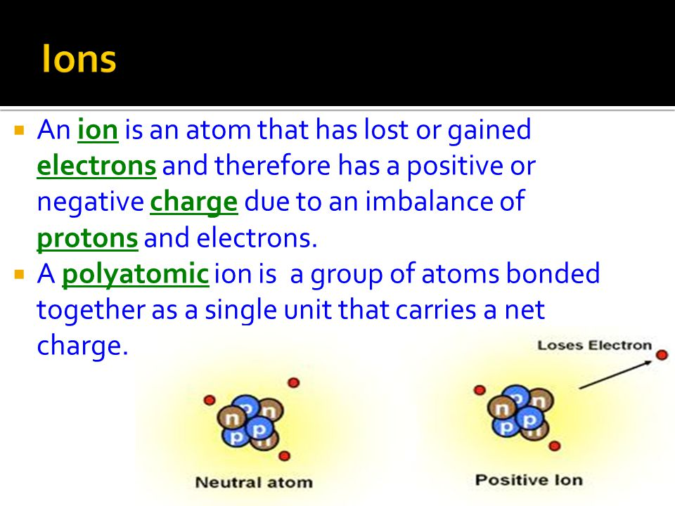  Elements combine in various ways to form compounds.