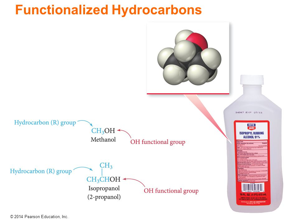 © 2014 Pearson Education, Inc. Functionalized Hydrocarbons
