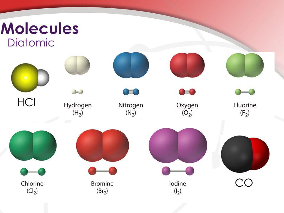 Molecules Diatomic CO HCl