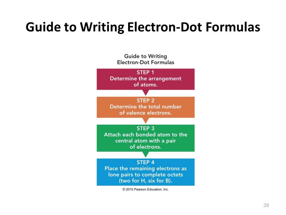 Guide to Writing Electron-Dot Formulas 39
