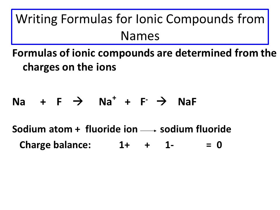 Learning Check Complete the names of the following binary compounds with variable metal ions: FeBr 2 CuCl SnBr 4 Fe 2 O 3 Hg 2 S