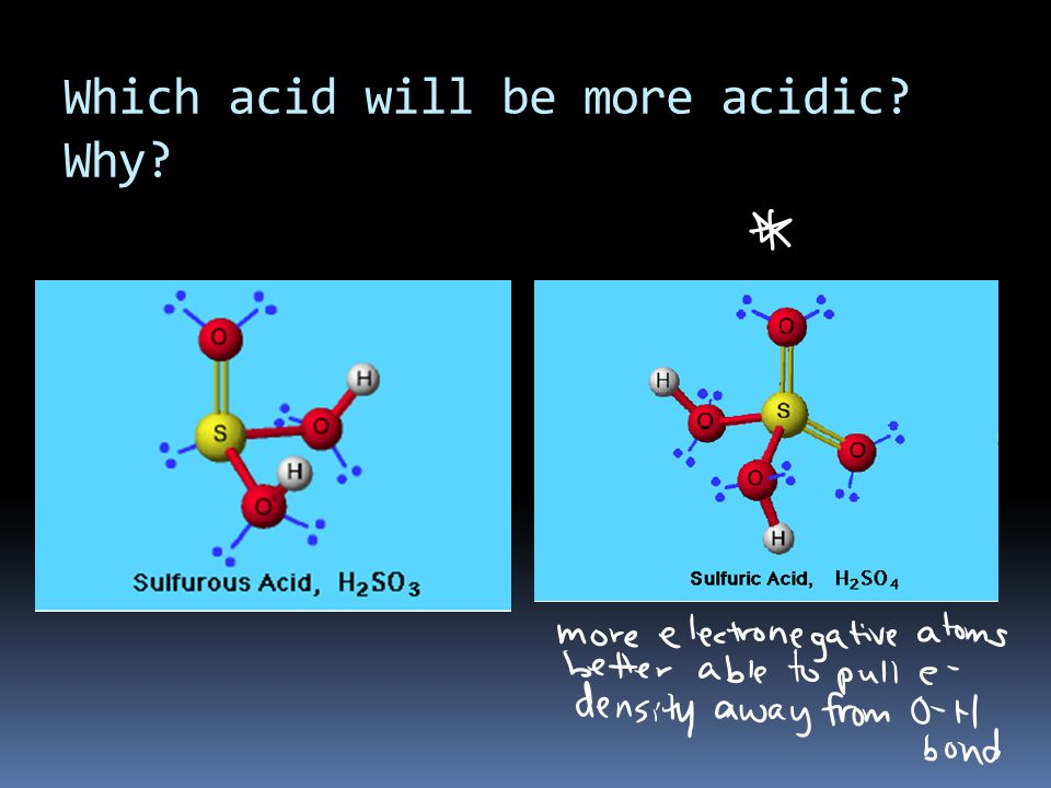 Which acid will be more acidic Why