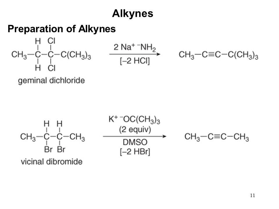 11 Alkynes Preparation of Alkynes