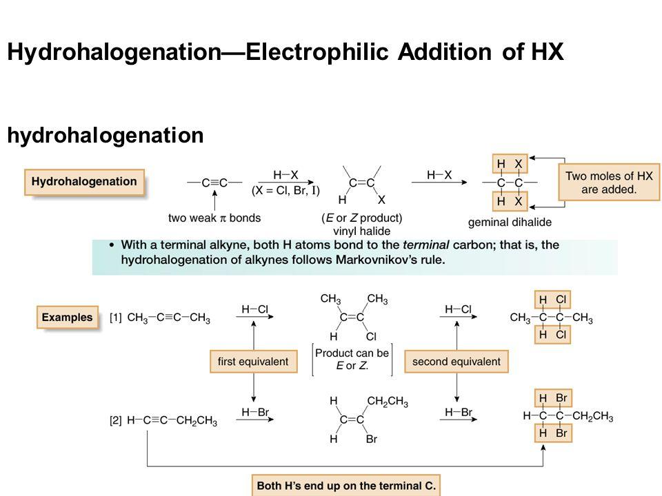 15 Hydrohalogenation—Electrophilic Addition of HX hydrohalogenation