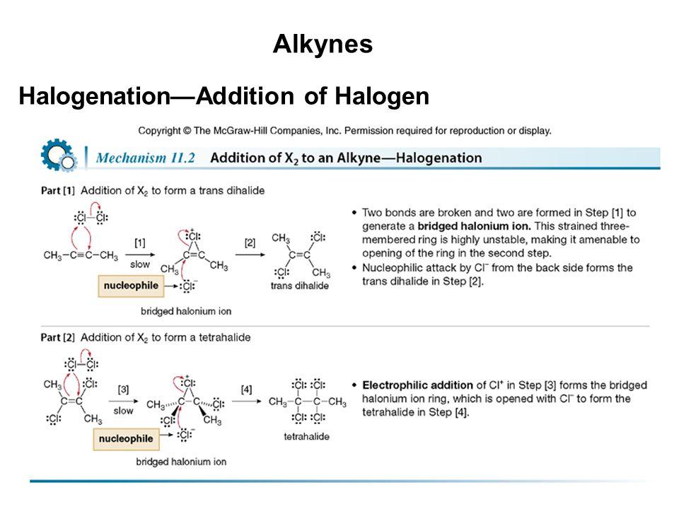 20 Alkynes Halogenation—Addition of Halogen