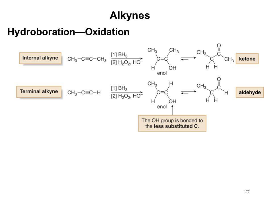 27 Alkynes Hydroboration—Oxidation
