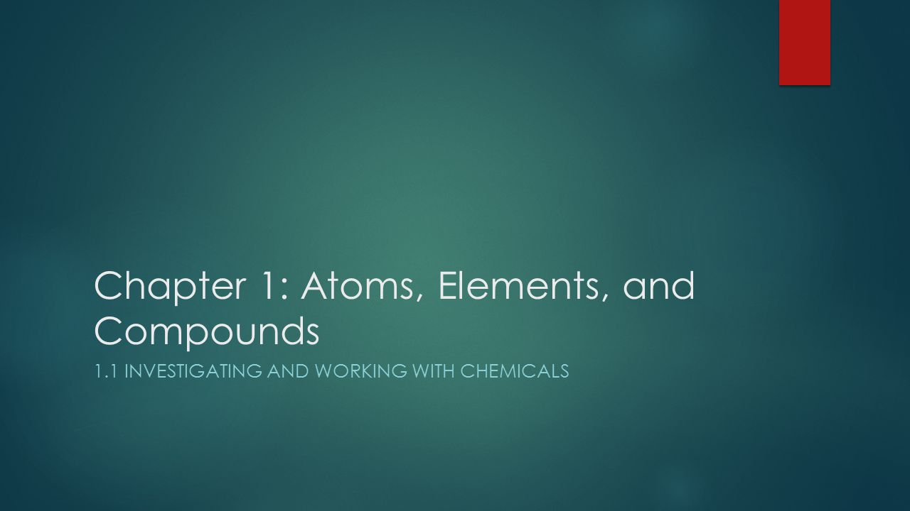  Modern Chemistry has a recent history dating back to the late 1700s.