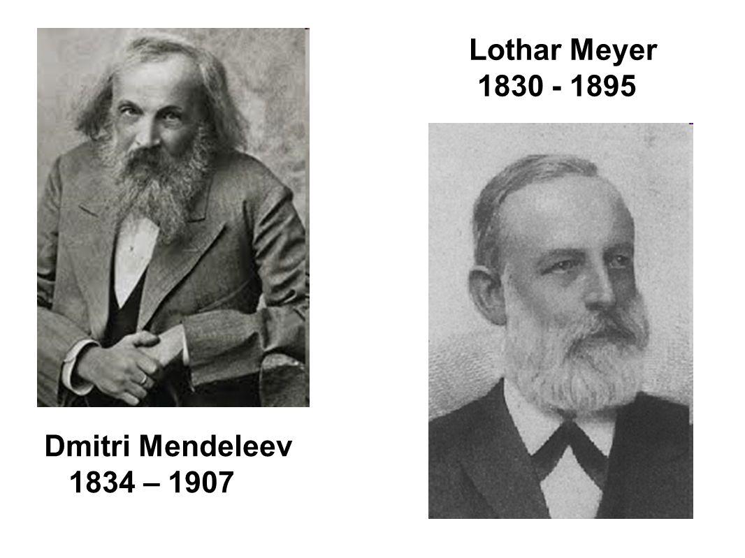 Dmitri Mendeleev 1834 – 1907 Lothar Meyer 1830 - 1895