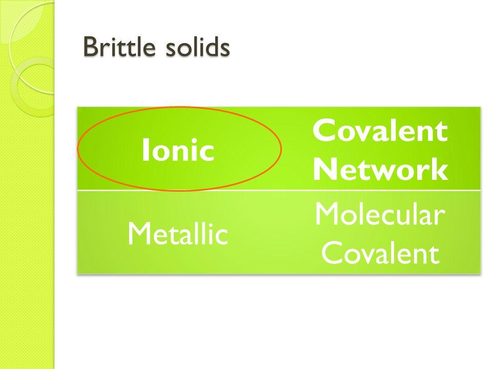 Brittle solids