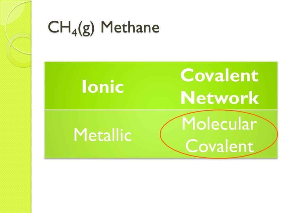 CH 4 (g) Methane