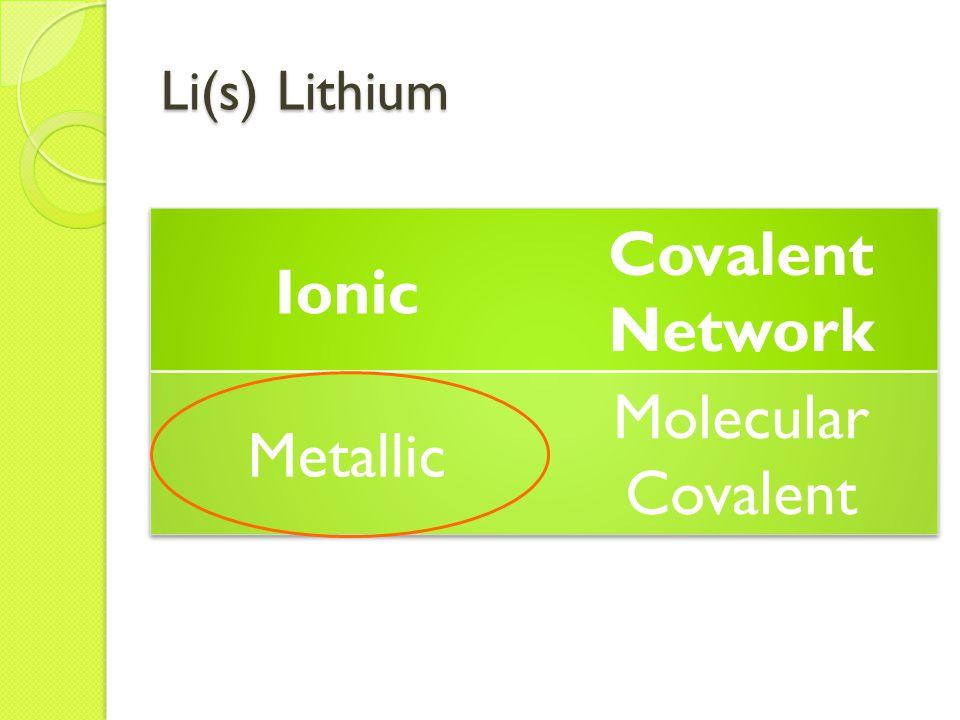 Li(s) Lithium