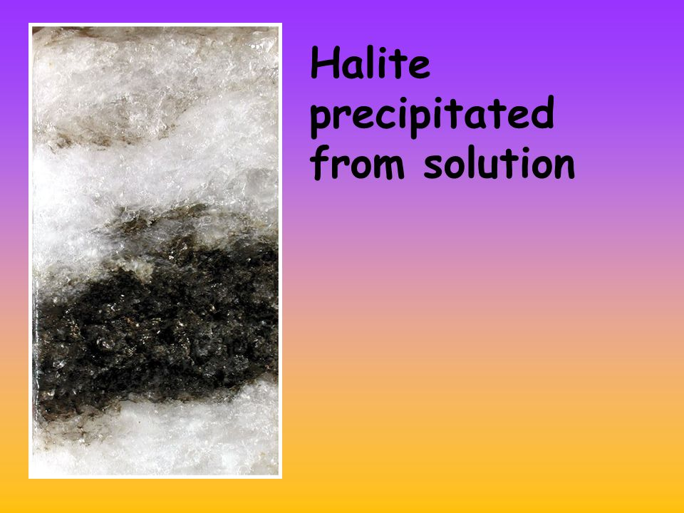 Halite precipitated from solution