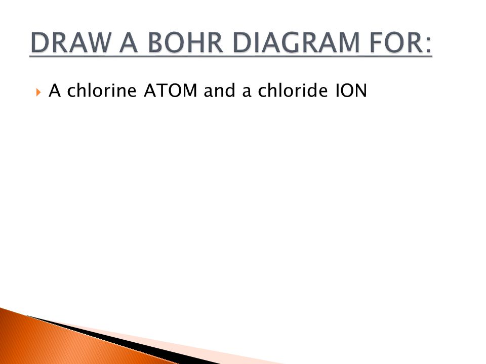  A chlorine ATOM and a chloride ION
