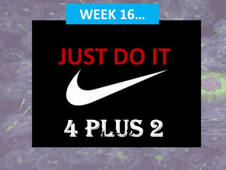 JUST DO IT 4 PLUS 2 WEEK 16… 4 + 2