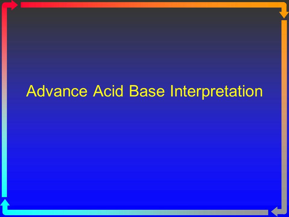 Advance Acid Base Interpretation
