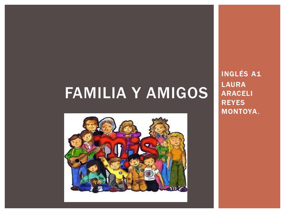 INGLÉS A1 LAURA ARACELI REYES MONTOYA. FAMILIA Y AMIGOS