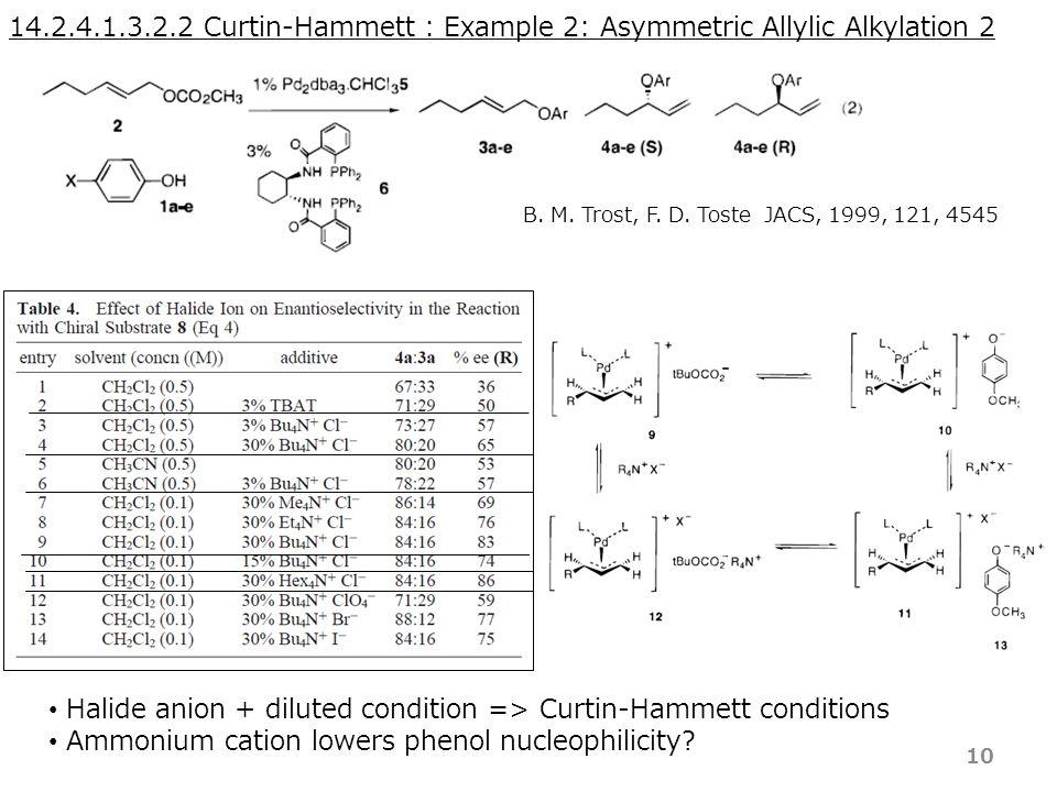 14.2.4.1.3.2.2 Curtin-Hammett : Example 2: Asymmetric Allylic Alkylation 2 B.