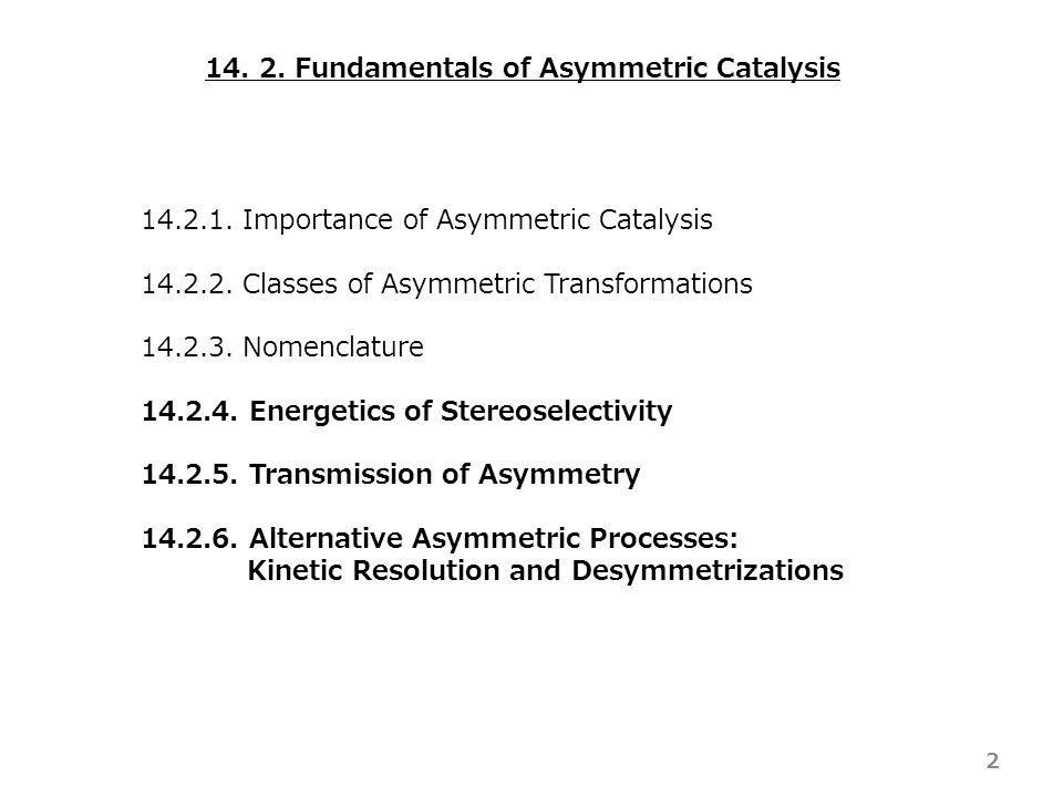14. 2. Fundamentals of Asymmetric Catalysis 14.2.1.