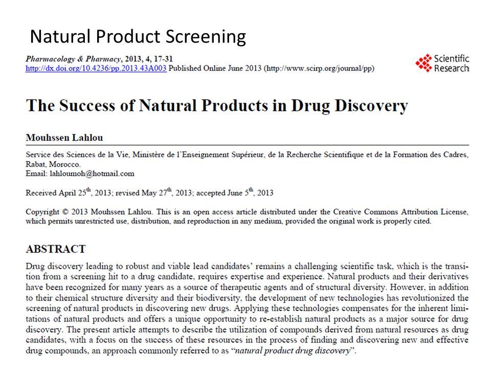 Natural Product Screening