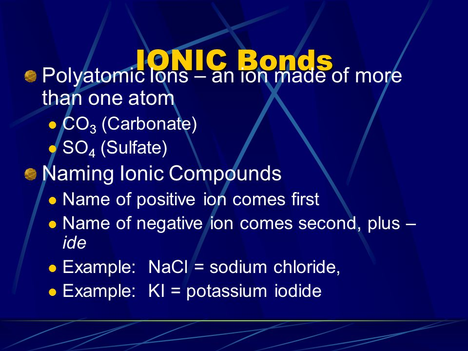 Naming Transition Element Compounds Iron can exist as either +2 or +3 oxidation state.