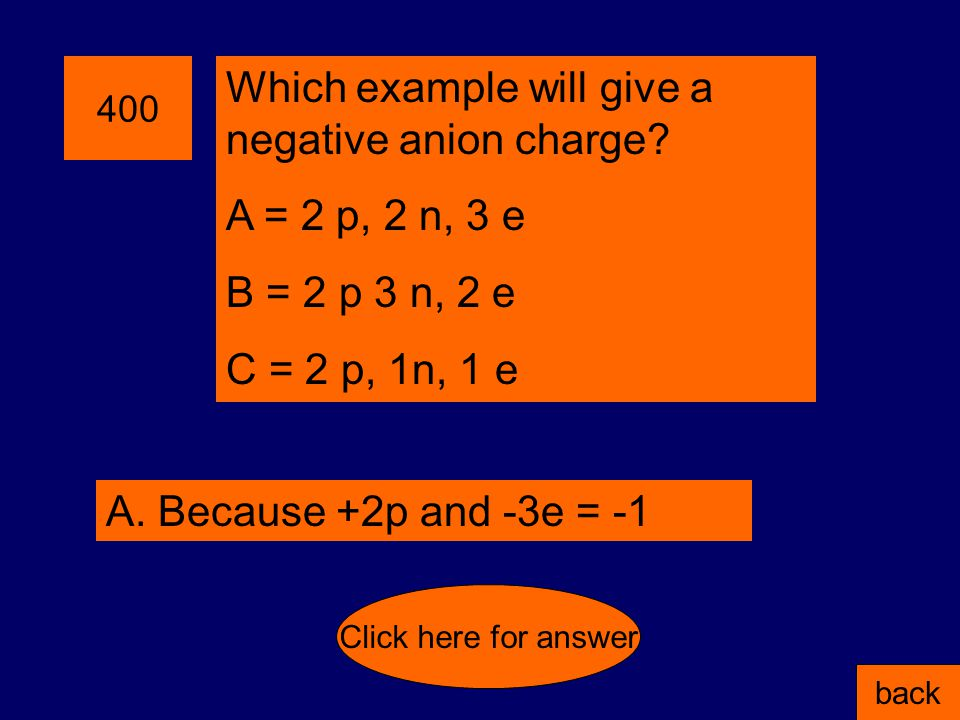 300 If you have 3 p, 4 n, 3 e; what is the overall charge of the atom.