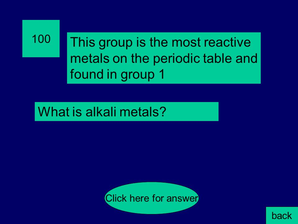 400 Which example will give a negative anion charge.