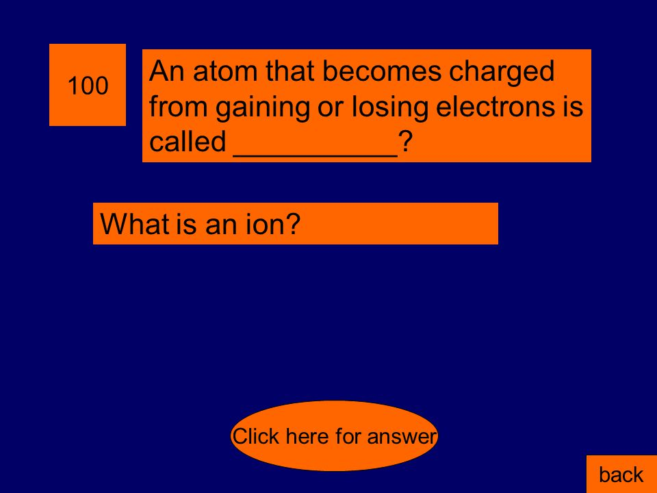 400 Which two atoms are isotopes? A = 8 p, 8 n, 8 e B = 7 p, 7 n, 8 e C = 8 p, 8n, 7 e D = 8 p, 9n, 8 e back Click here for answer A & C because they
