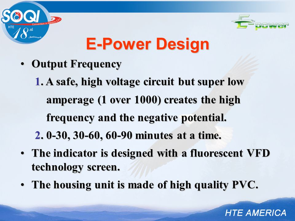 E-Power Design Output FrequencyOutput Frequency 1.