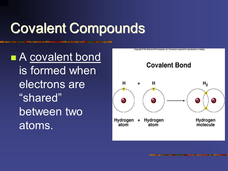 Covalent Compounds Most contain all non-metals that combine to form molecules of a substance.