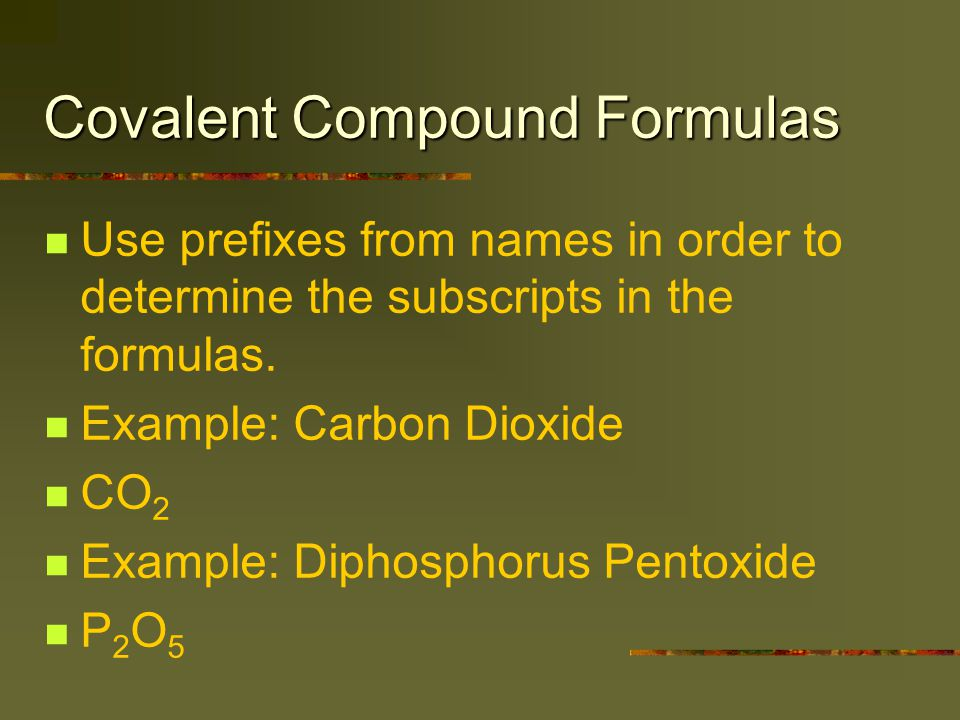 Acids Appear to be covalent compound, but separate into cations (+) and anions (-) in water.