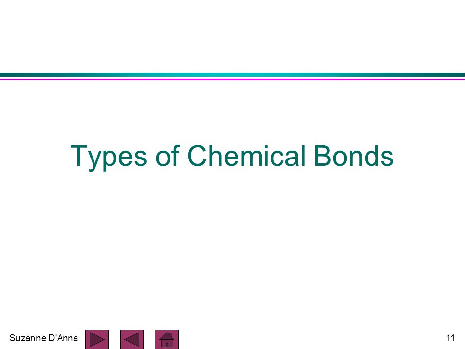 Suzanne D'Anna11 Types of Chemical Bonds