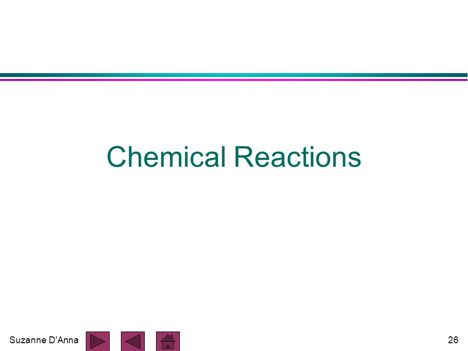 Suzanne D'Anna26 Chemical Reactions