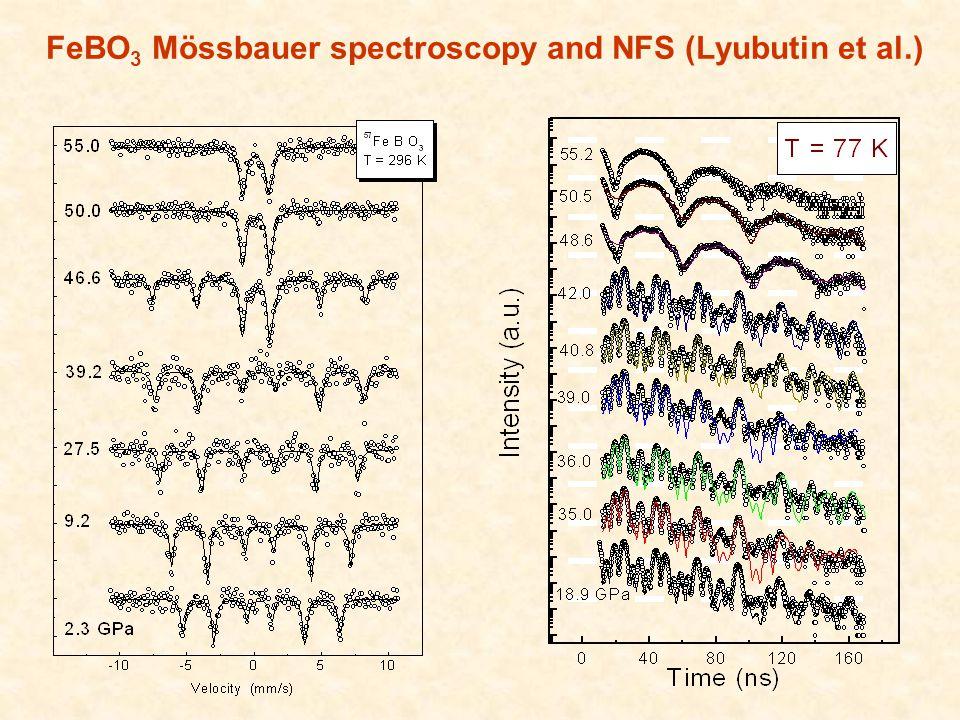 FeBO 3 Mössbauer spectroscopy and NFS (Lyubutin et al.)