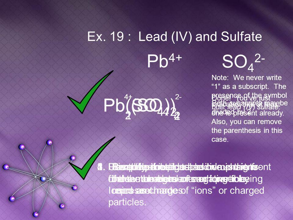(SO 4 ) Pb(SO 4 ) 2 Pb Ex.