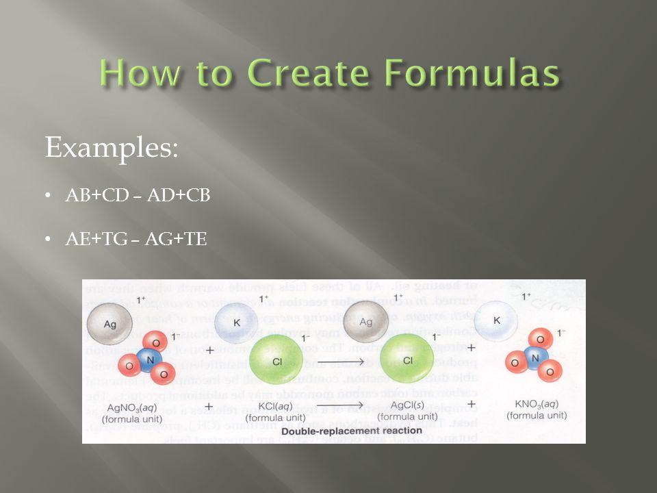 Examples: AB+CD – AD+CB AE+TG – AG+TE